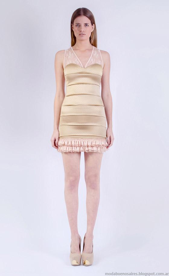 Moda vestidos de fiesta cortos Natalia Antolin 2015.