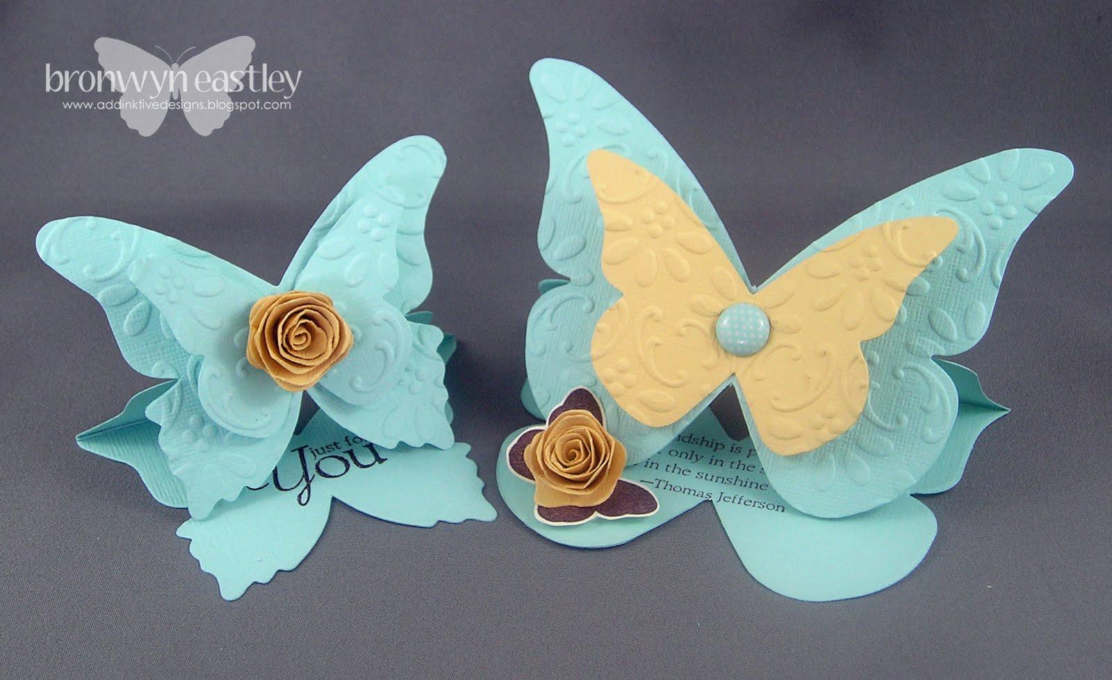 Как сделать открытку с бабочками своими руками