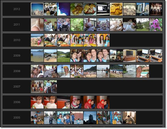 snapjoy : classement des phots par année