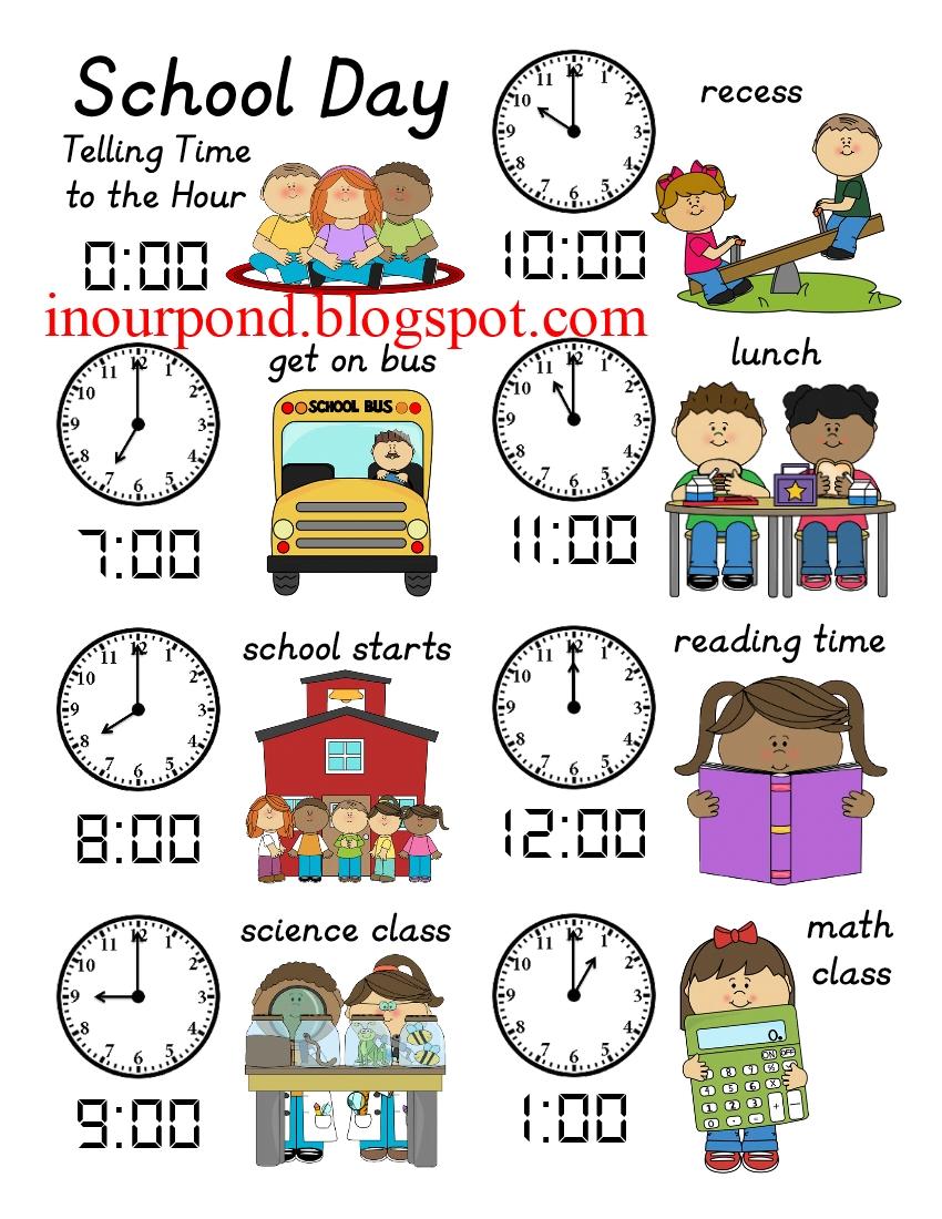Clock worksheets for preschoolers