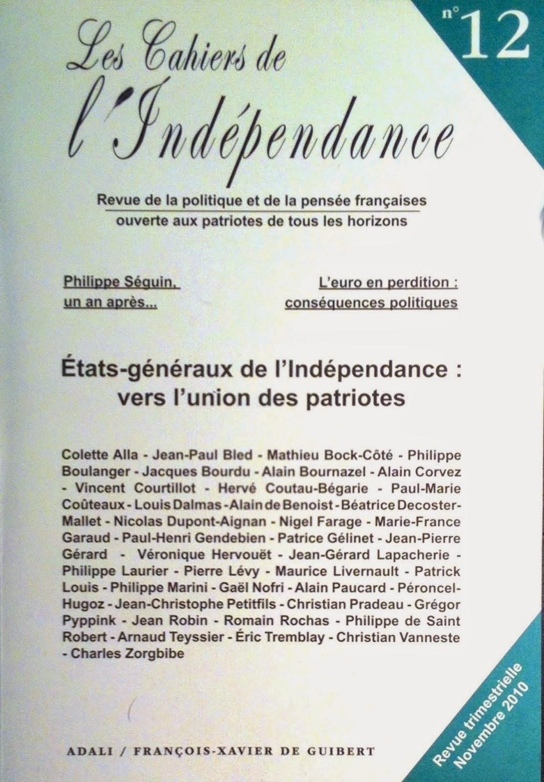 Les Cahiers de l'Indépendance