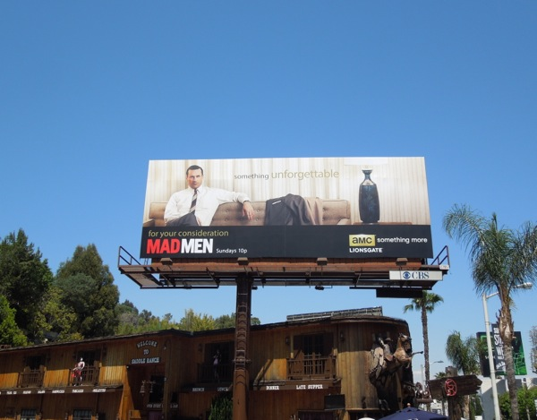 Mad Men Unforgettable AMC Emmy billboard