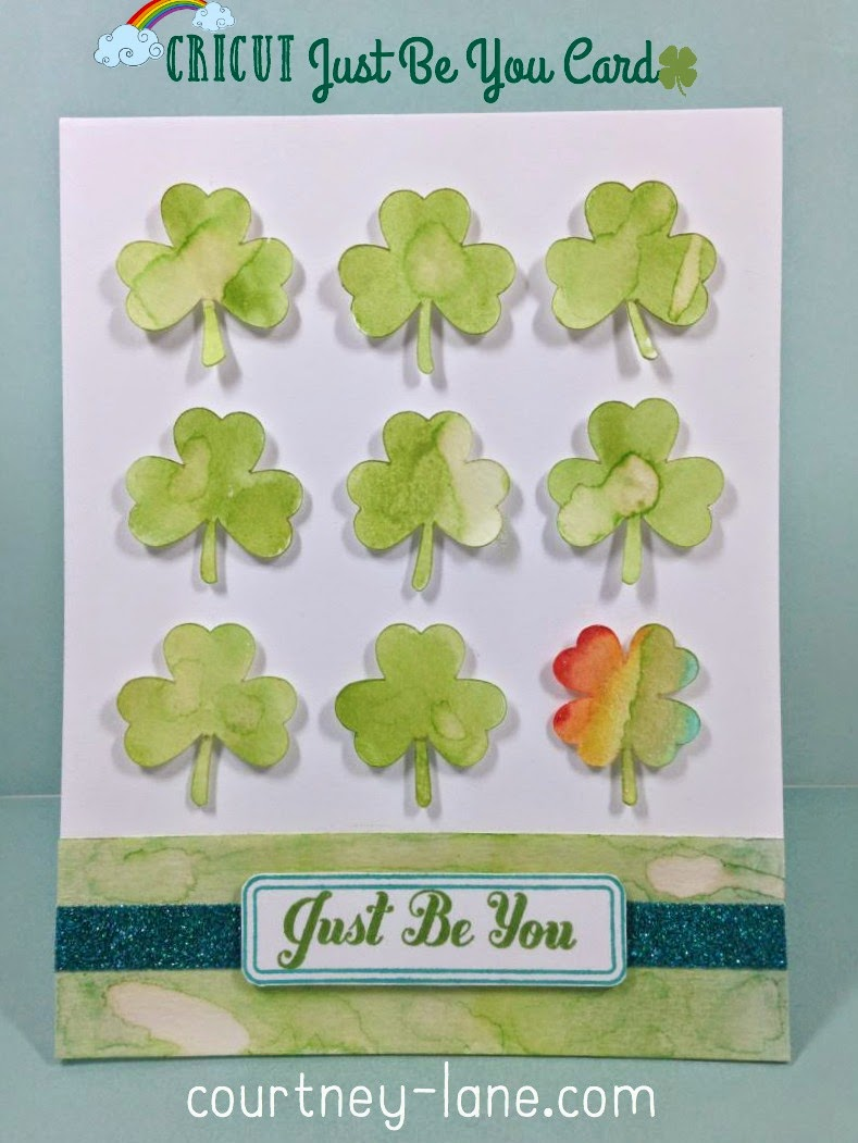 Cricut Just Be You card