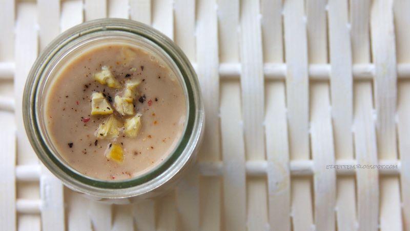 tejszínes gesztenyekrém(leves) fűszeres grissinivel