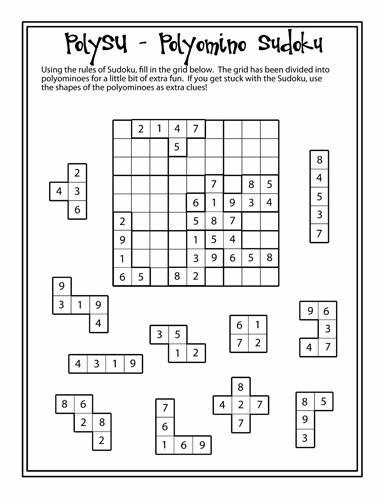 PolySU - A Polyomino Sudoku
