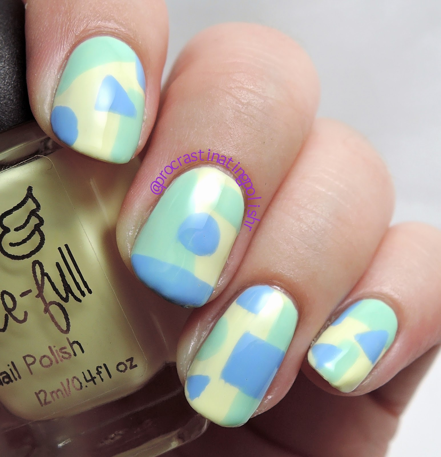 Geometric Nail Art | Grace-full Brooke & Anne | Barry M Blueberry