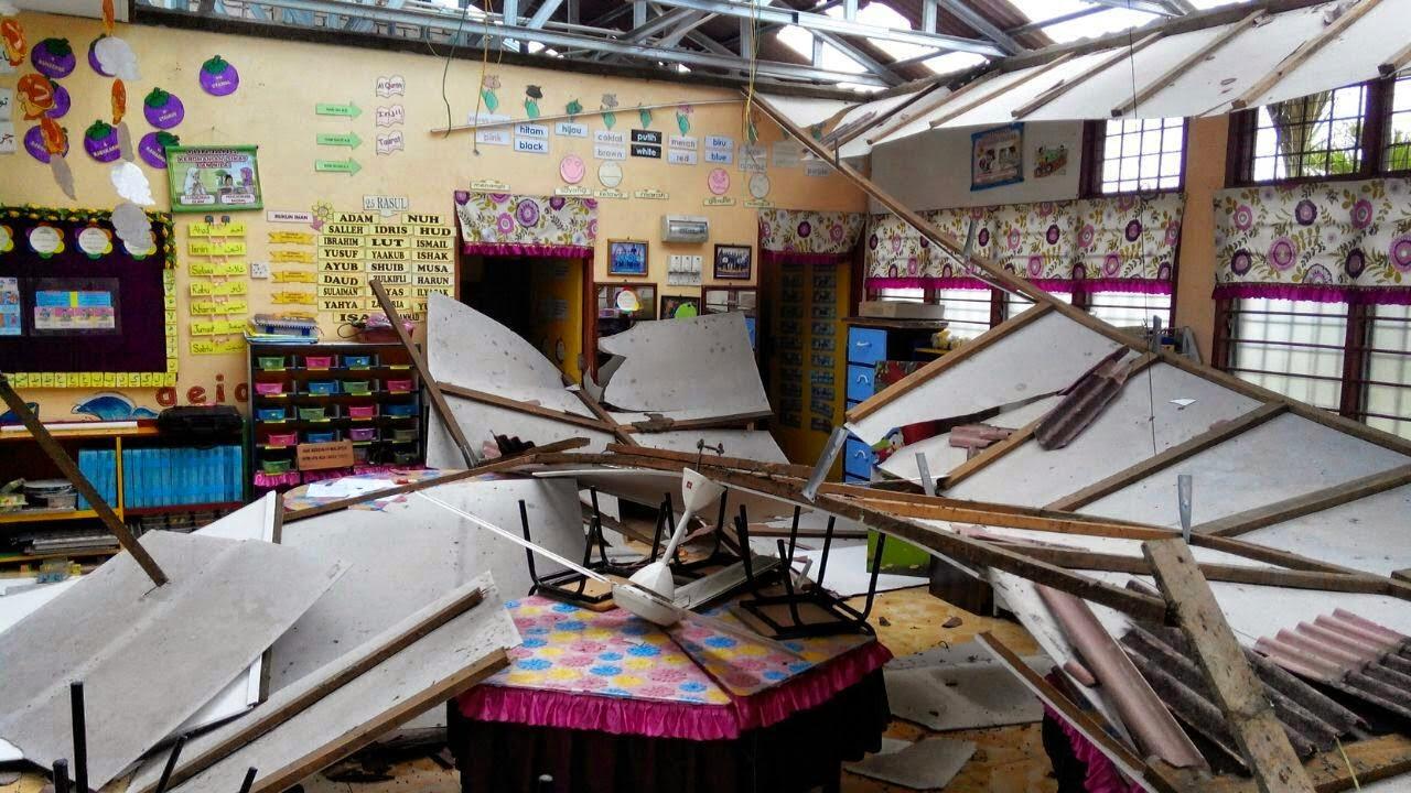 Sekolah turut rosak akibat puting beliung di pedang