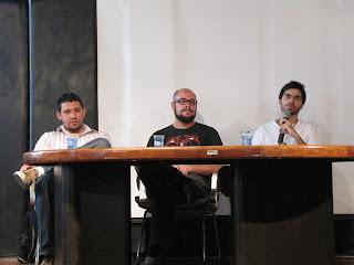 Daniel, Rodrigo e Carlos Ruas no 6o HQ Festival_Aracaju_foto Suyene Correia