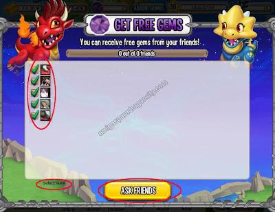 imagen de invitar amigos para ganar gemas gratis en dragon city