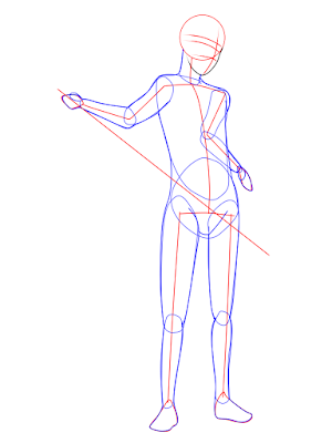 menggambar sasuke uchiha black costume langkah 6
