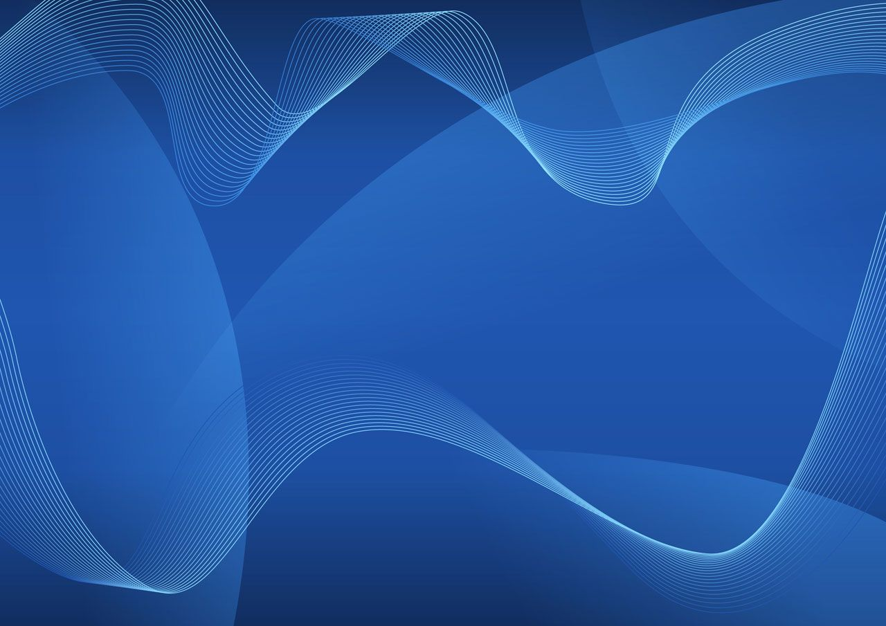 abstract waves on a blue background