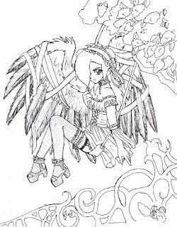 free gothic fairy coloring pages - scary jack o lantern coloring pages