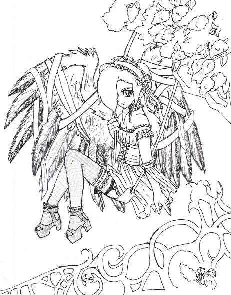 anime fairy coloring pages for adults