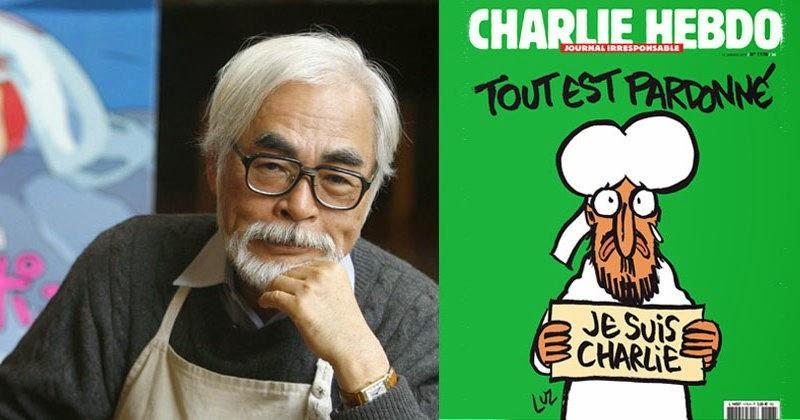CHARLIE HEBDO, HAYAO MIYAZAKI DIFENDE IL PUNTO DI VISTA DEI TERRORISTI