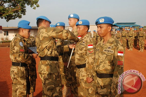 Prajurit TNI terima medali PBB di Haiti