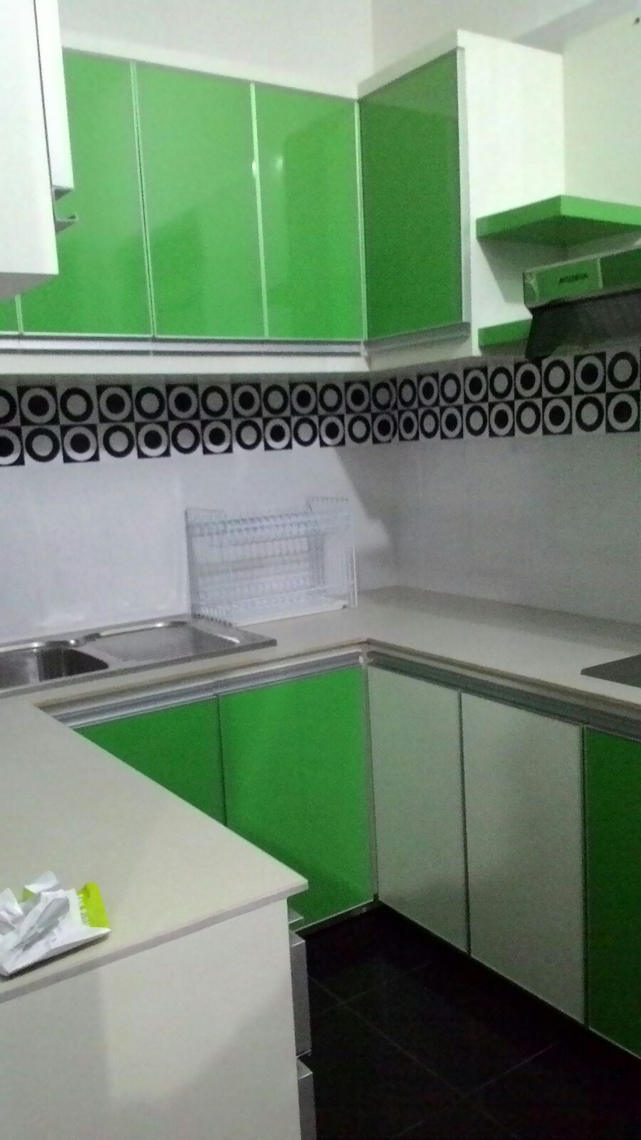 Design interior exterior architecture kitchen set for Kitchen set hijau