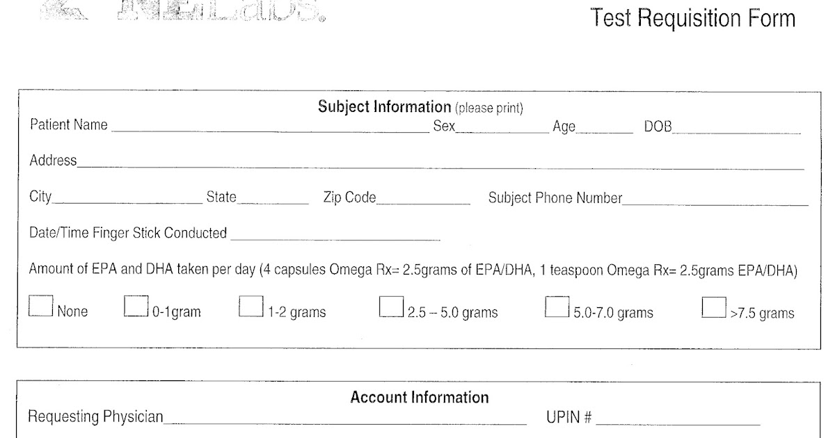 how to read a blood test form rcc