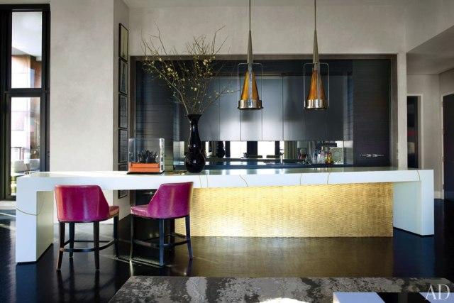 cocina de diseño para atico