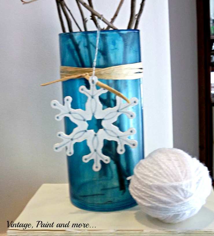 Vintage, Paint and more... diy faux sea glass vase