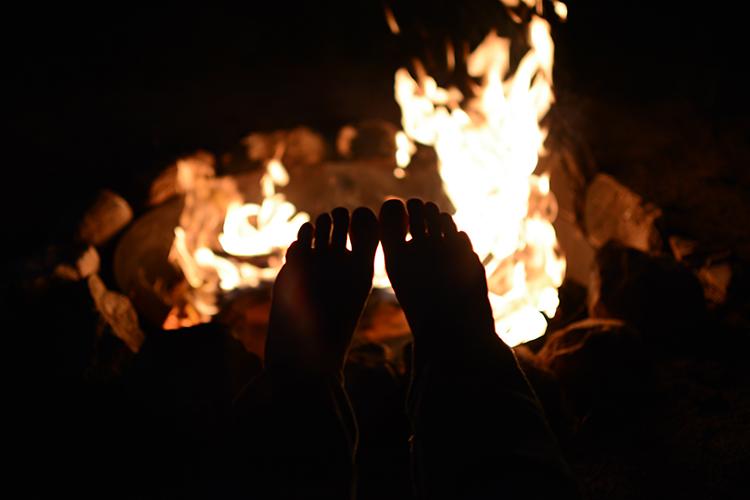 warm bonfire