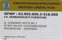 legalitas npwp perusahaan furniture semarang