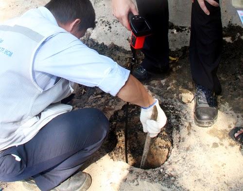Hố phun lửa ở Sài Gòn có khí mêtan cao bất thường