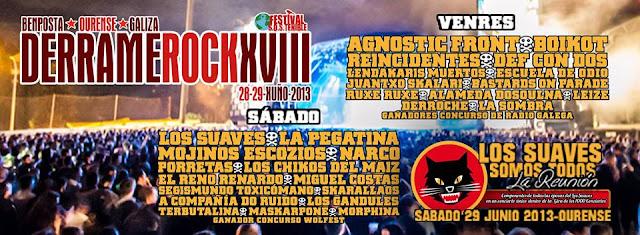 Festival Derrame Rock XVIII. Bemposta. Ourense