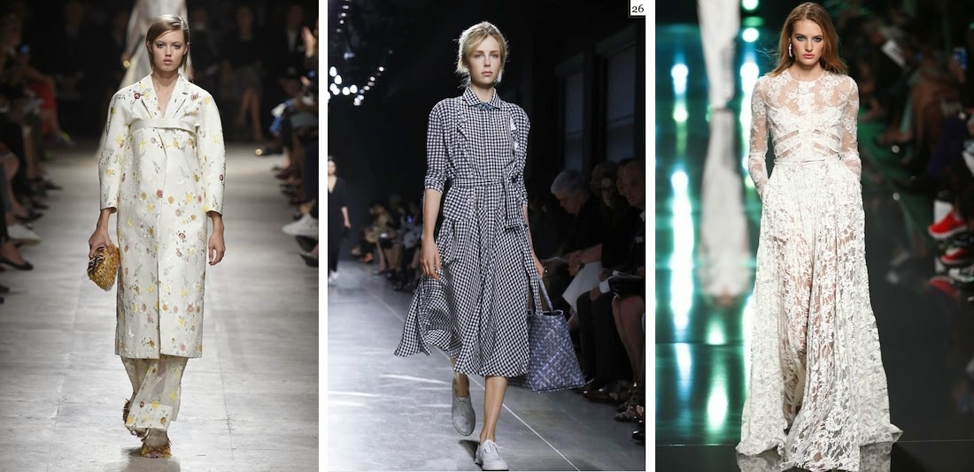 Top 10 Spring 2015 Trends, Fashion Trends, Ashish casual tops, Paris Fashion Week, Ralph Lauren, Michael Kors, Gingham Style, Sassy Sporty Look, Subtle Retro, The Festival Girl, Kimono Kraze, Head-to-Toe White, Wannabe-Bride Style, Blackout, The Tomboy Girl, The Army, Navy, An Ode to Mother Nature