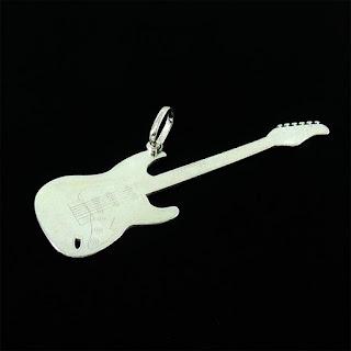 pingente guitarra prata 925