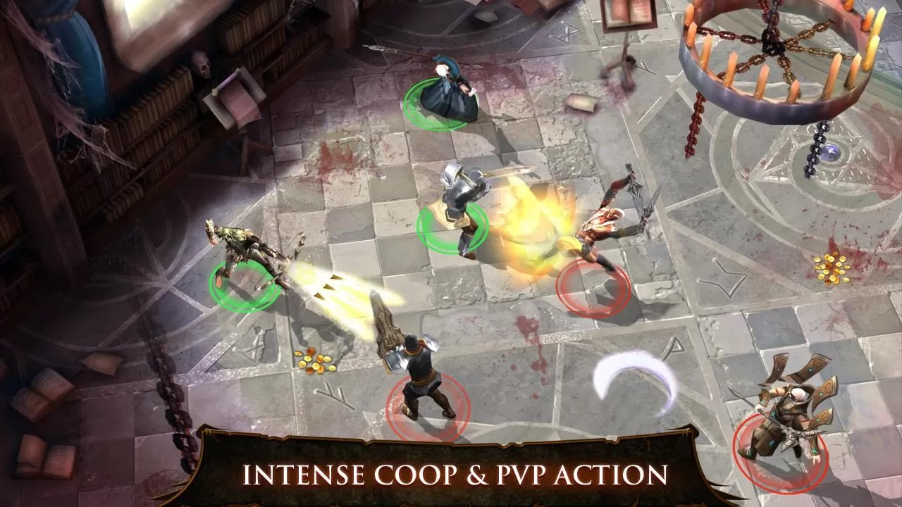 Dungeon Hunter 4 apk intense coop