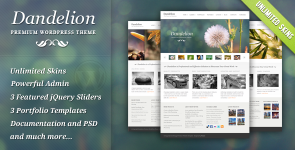 Dandelion - Powerful Elegant Wordpress Theme Free Download by ThemeForest.