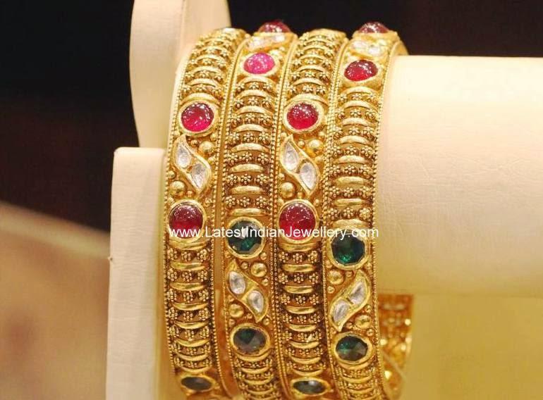 Gemstone Studded Elegant Bangles
