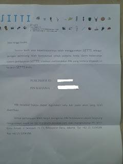 Ahirnya Surat Verifikasi PIN Pembayaran Dari Iklan STTI Datang