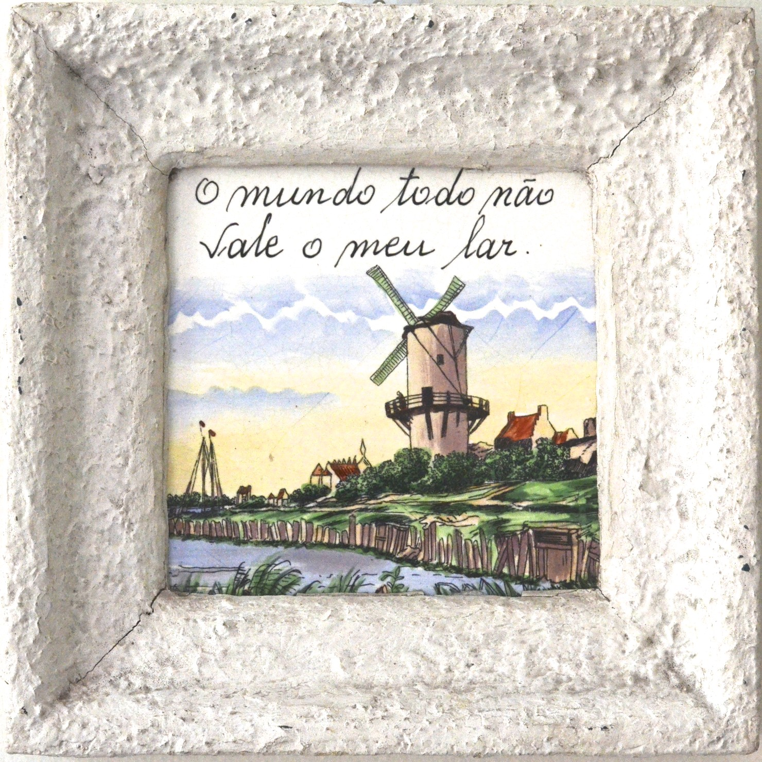 wind mill, holland, netherlands, village, sky, tile, framed tile, there is no place like home, o mundo todo nao vale meu law