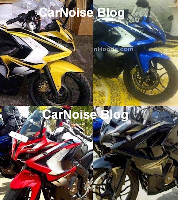 Four Colors of Bajaj Pulsar 200 SS - Spy Photo