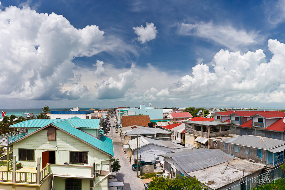 Image: Rooftop Panorama, San Pedro Town, Ambergris Caye, Belize by AJ Baxter