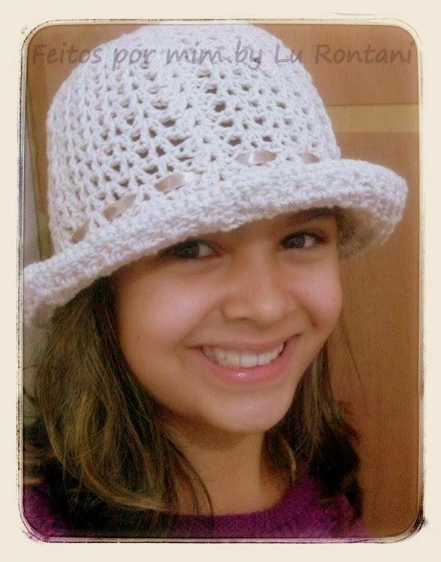 Chapéu em crochê modelo 1