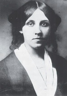 Portrait of American authoress, Louisa May Alcott
