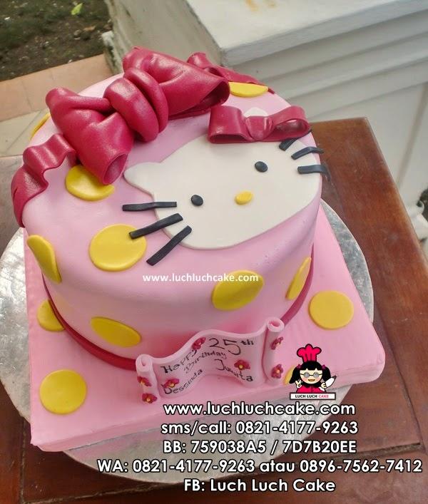 Kue Tart Hello Kitty Simpel Fondant Daerah Surabaya - Sidoarjo