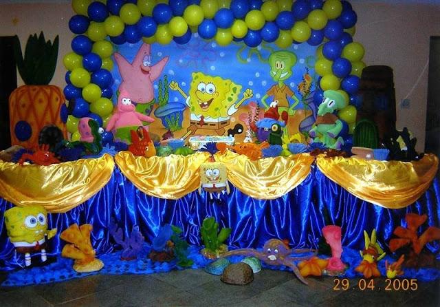 Festa do Bob Esponja para aniversário de meninos.