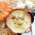 Сырный суп с печеным чесноком