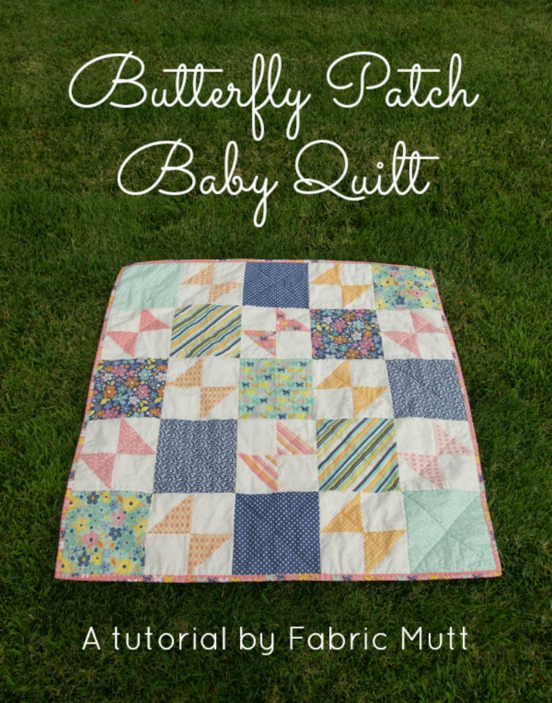 Butterfly Baby Quilt by Fabric Mutt for Riley Blake Designs