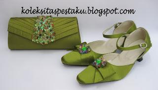Hijau Segar Tas Pesta Terbaru Ready Stock Cantik Unik