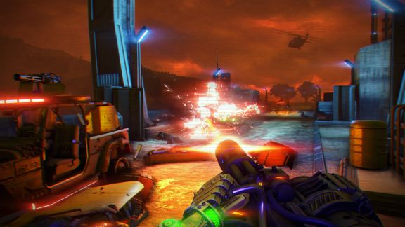 Screen Shot Of Far Cry 3 Blood Dragon (2013) Full PC Game Free Download At Downloadingzoo.Com