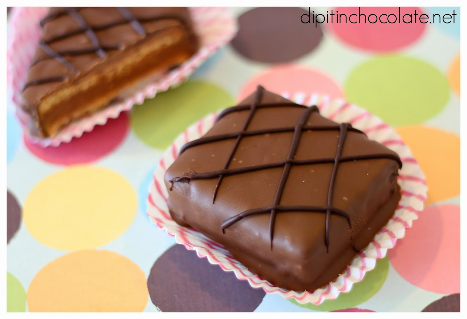 ... Corner Peanut Butter Chocolate-dipped Sandwiches ~ Dip it in Chocolate