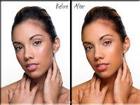 επεξεργασία φωτογραφίας,μοντέλο,πριν και μετά
