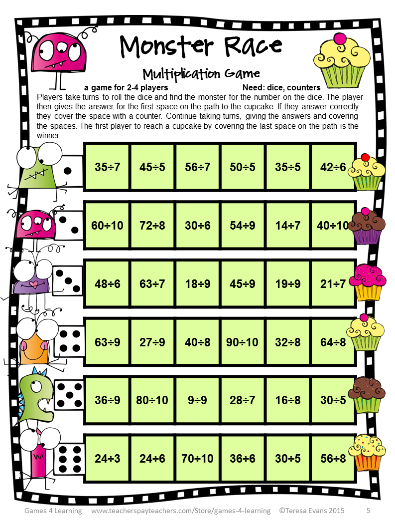 It's just a picture of Dynamite Math Games Printable