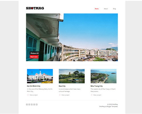 ShotMag – Minimalist Photoblog Blogger Template