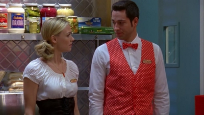 Yvonne Strahovski back in the Wienerlicious uniform