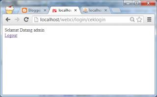 Membuat Halaman Login dengan CodeIgniter Admin Page